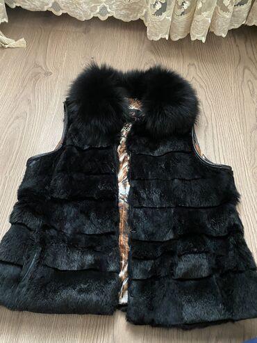 Женская одежда в Чон Сары-Ой: Норковая жилетка, длина до попы, состояние меха идеальное, только изну