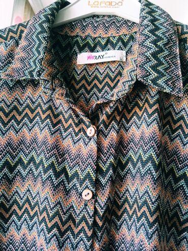платья рубашки без рукавов в Кыргызстан: Продается шифоновое платье- рубашка Шикарная рассветка, подойдёт