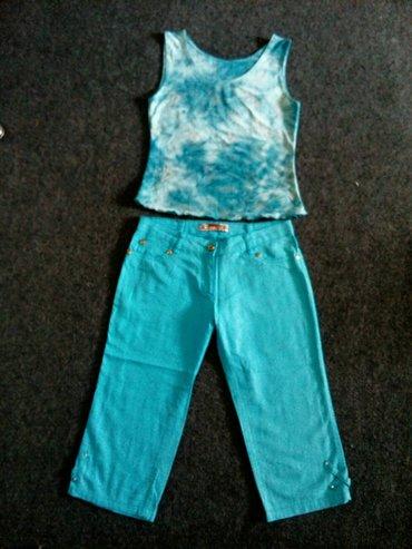 Бермуды, майка, топик, по 100 сом, цвет бирюзовый, размер 44—46 в Лебединовка