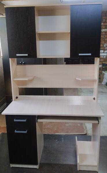 Мебель на заказ - Кыргызстан: Компьютерный стол со шкафом, новый хорошего качества! полочка для