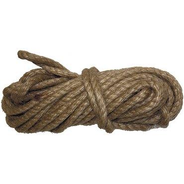 Веревка джутовая, l 10 м, крученая, d 8 мм, в Бишкек