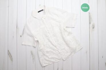 Рубашки и блузы - Состояние: Б/у - Киев: Жіноча блуза з коротким рукавом з напівпрозорої тканини Atmosphere XXL