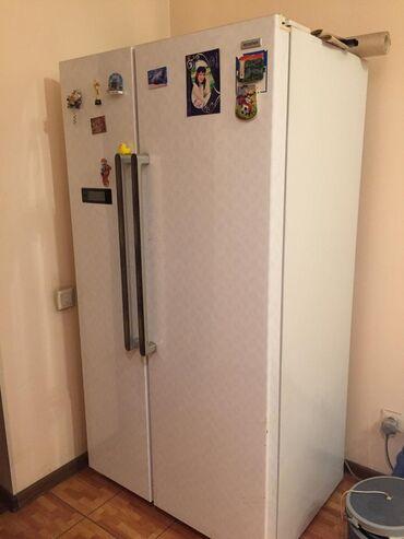 Б/у Side-By-Side (двухдверный) Серебристый холодильник
