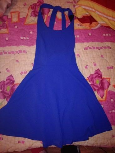 Plava haljina, gola su ramena, zadnja slika je pozadi. Jednom obucena. - Smederevska Palanka