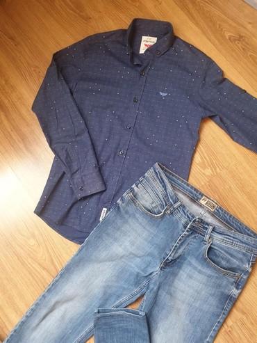 bmv e34 reduktor в Кыргызстан: Рубашка+Джинсы!В отличном состоянии!Турция!Оригинал!Размер джинсы 31