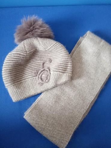 Женская шапка с шарфом почти новая в Бишкек