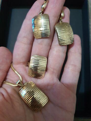 Срочно продается набор 4-ка из желтого золота 585 пробы,общ вес
