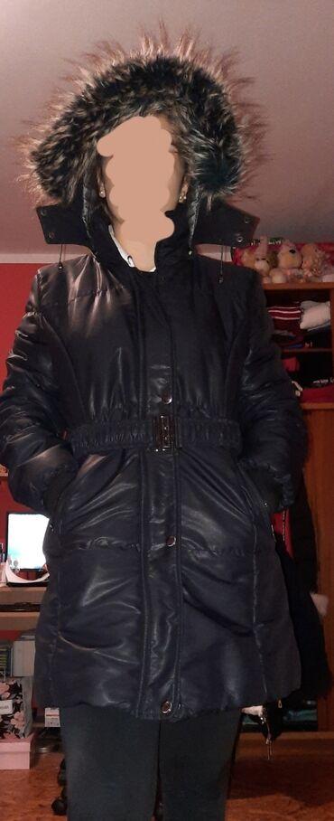 Markirana kozna jakna - Srbija: Zimska jakna Kao nova,bez oštećenja!