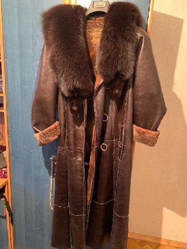 женские-пальто в Кыргызстан: Дублёнка 52 Натуральная, воротник песец, немного уступка будет Состоя