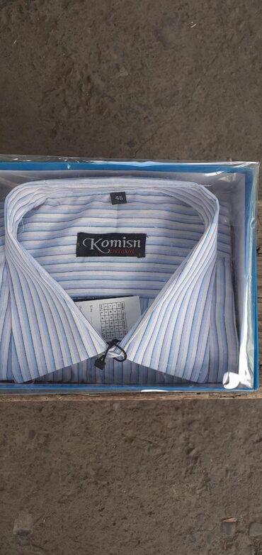 Мужские рубашки в Кыргызстан: Продам 3 новые рубашки 1 фото размер ворота 45 2фото размер ворота 41
