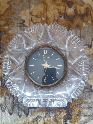 Часы кварцевый хрустальные настенные и настольные СССР 5000 за 2шт