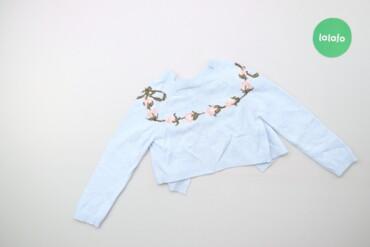 Дитячий светр з вишивкою італійського бренду Monnalisa    Довжина: 28