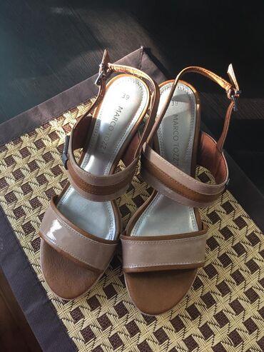 мужские-туфли-бишкек в Кыргызстан: ПРОДАЮТСЯБосоножки немецкой фирмы Marco Tozzi, новые, 39 размер