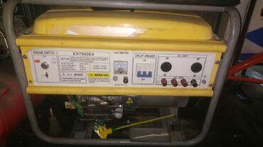 Генераторы - Кыргызстан: Генератор 6 кВт Б.у . состояние отличное Бензиновый На 220 волть