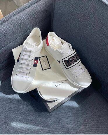 Женская обувь - Бишкек: Новые Gucci white sneakers. Италия. Оригинал с сертификатами