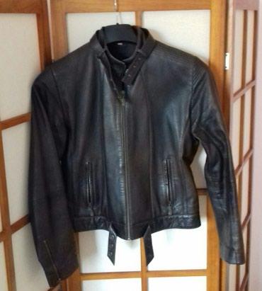 Kozna braon jakna L - XL .Bez ostecenja ( dim: ramena 40, duzina 54, - Novi Sad