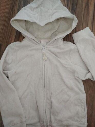 Обмен Махровый белый свитер на замочке~4-5л в норм сост