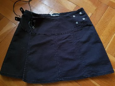Pvc-crna-xxcm-zatvaranje-na-rajsferslus-drska-cm-unutrasnja - Srbija: Crna suknja na preklop, S velicina