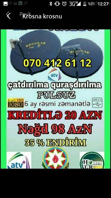 krosnu - Azərbaycan: Krosna Krosnu Peyk antena kredit sifarişi  Tək Şəxsiyyət vəsiqəsi ilə