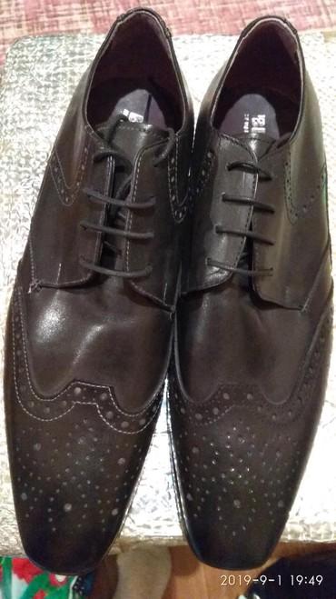 Мужская обувь - Кок-Ой: Новые мужские туфли. 42 размер. Кожа, Италия. Lav.Blak VERO CUOIO