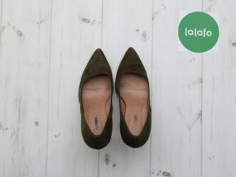 Женские туфли-лодочки, р. 36 Цвет: хаки Высота каблука около 8,5 см Ню