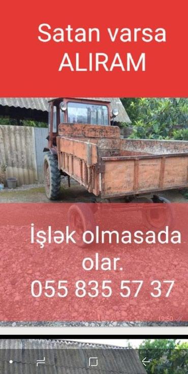 Bakı şəhərində ALIRAM T16 Traktoru, T40, T 28 . ЮМЭ və başqa texnikalar. Lapet