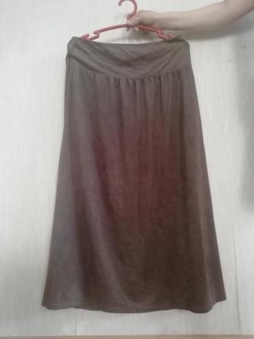 Длинная юбка, тонкий велюр Размер 46