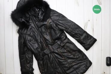Жіноча зимова куртка пуховік Lloyd, р. M   Матеріал: натуральна шкіра