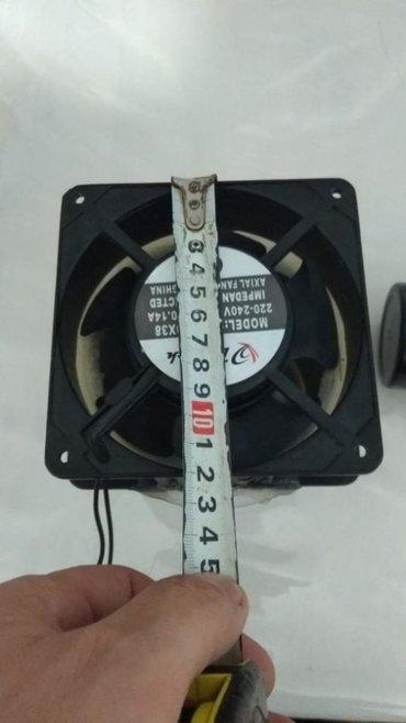 Fan 220 voltla isleyir ölçüləri 12smX12sm