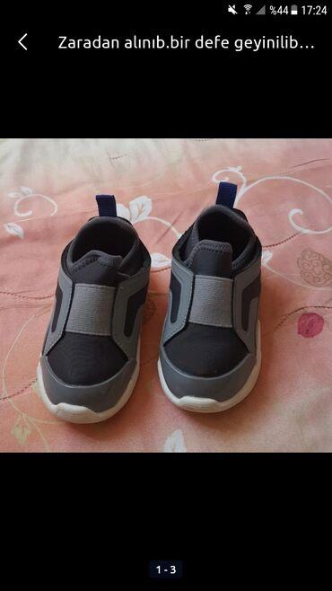 Uşaq ayaqqabıları - Azərbaycan: Zaradan alınıb.bir defe geyinilib yeni kimidi.21 razmer