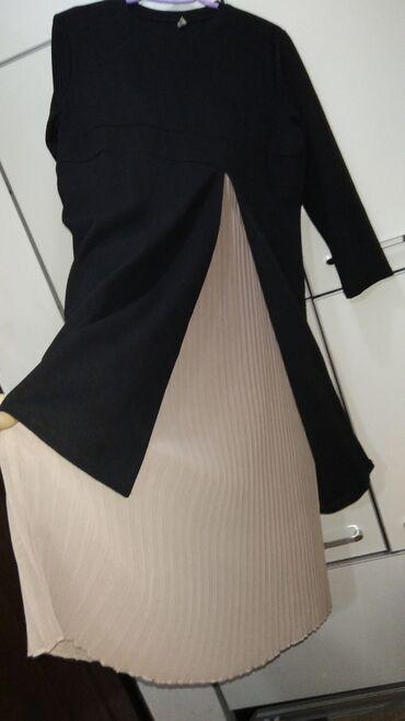 платья для кормящих мам бишкек в Кыргызстан: Платье для беременных и кормящих из плотной хб ткани в сочетании с