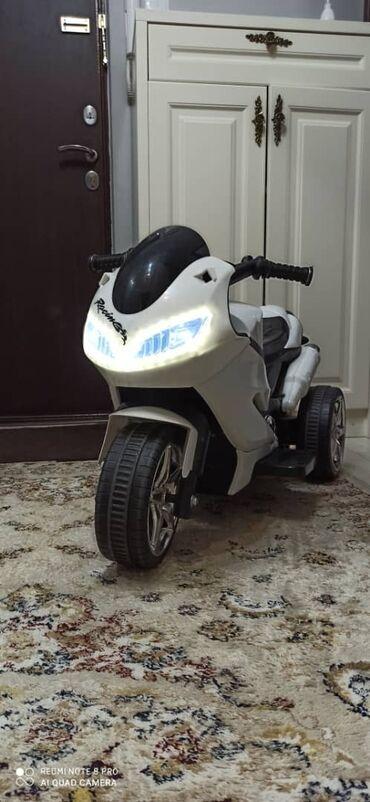Детский мир - Кыргызстан: Продам детский электрический мотоцикл, есть встроенная музыка, можно