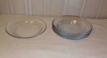 Прозрачные тарелки 6 штук