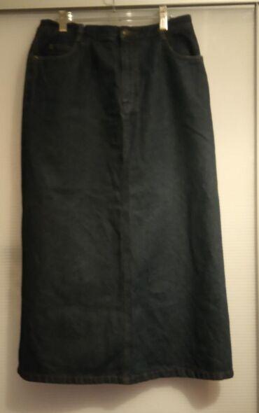 Teksas suknja veličina M, kvalitetan Teksas, čvrst i puniji. Boja