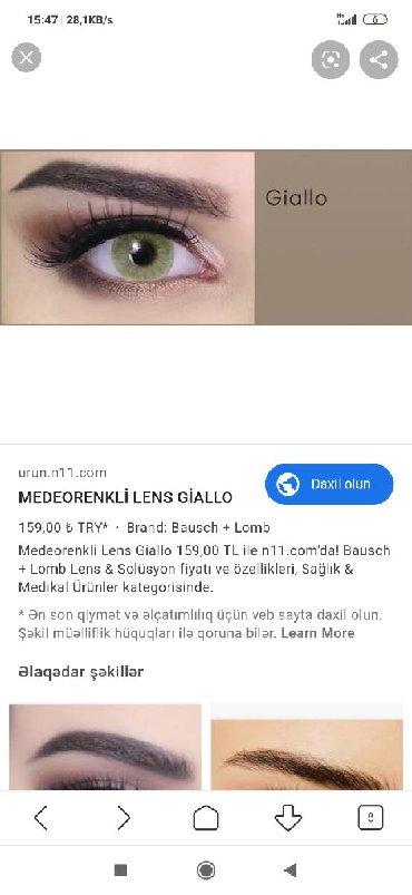 Medeo giallo -1 optik linza, qutudan açılıb ama qətiyyən istifadə