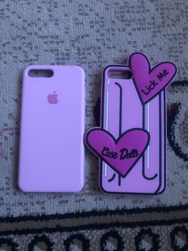 красивые-чехлы-на-телефон в Кыргызстан: СРОЧНО! Продаю чехлы на айфон 7+/8+  Очень хорошее качество, в розовом