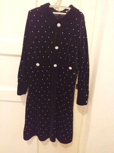 Чёрное, бархатное платье одевала 3-4раза за 700 сом