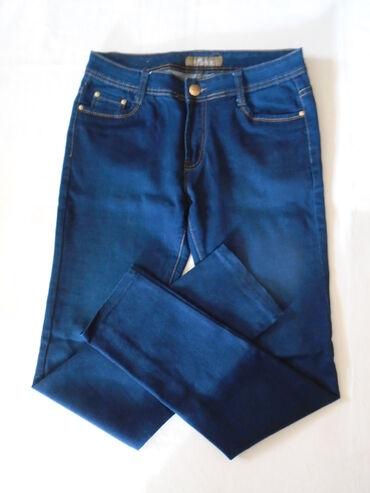Bele pantalone - Srbija: Lepe kratko nošene tamno plave farmerke Mimidave jeans, dubokog