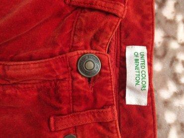 Pantalone-boja - Srbija: Benetton plisane pantalone,vel 40,nove,neobicna boja