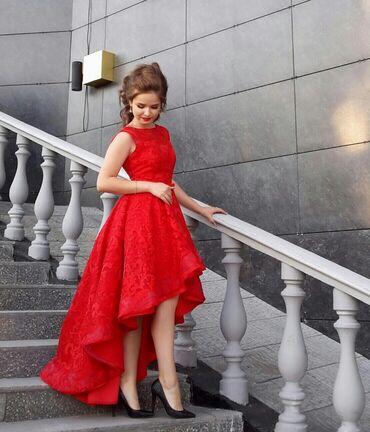 вечернее платье в горошек в Кыргызстан: Вечернее платье. Размер 44(М) Надевалось 1 раз )