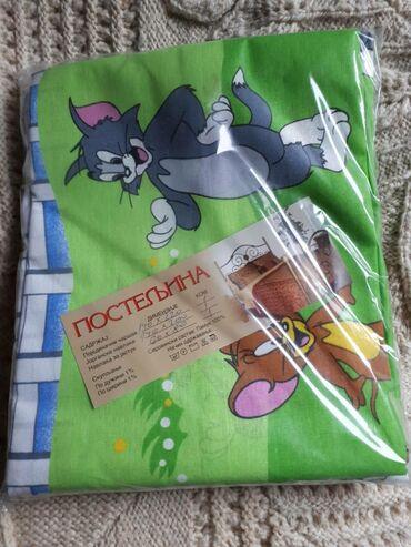 Tekstilna industrija - Srbija: Decije pamucne posteljine singl posteljina 1 jastucnica 60x80 navlaka