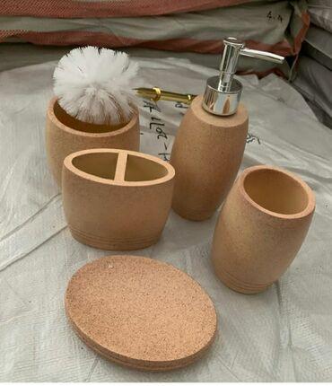 aksessuary dlya malenkikh sobak в Азербайджан: Vanna ucun nabor, 5 deneli, keramika. Nabor dlya vannoy, keramika
