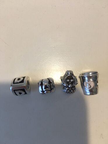 Pandora charms.Μονόγραμμα D/κολοκύθα Halloween/γοργόνα/ποτηράκι καφέ