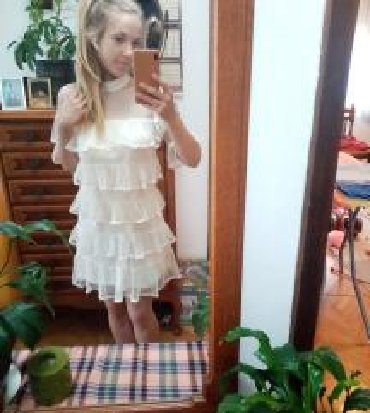 SNIŽENO NA 3000. Prolećna, kratka bela haljina (S veličina) sa