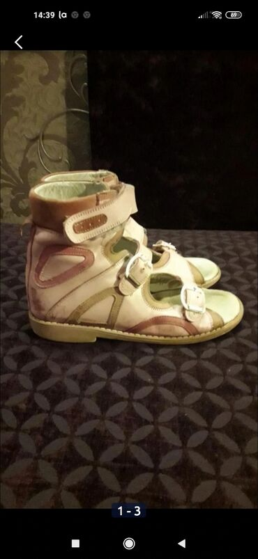 Продаются кожаные ортопедические сандали. С высоким берцем, каблук