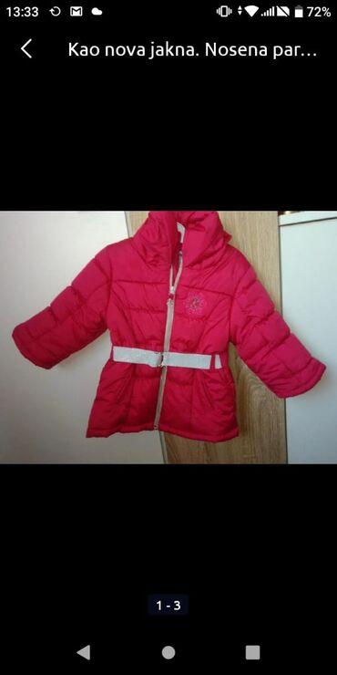 Dečija odeća i obuća | Krusevac: Jaknica za devojcicu, 80 velicinaNosena nekoliko puta. Ima ranfle na