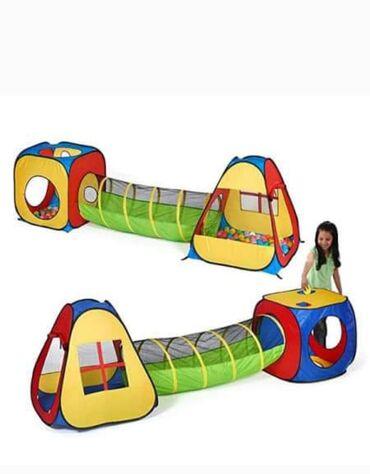Sklopivi dečiji tunel šator sa dodacima za beskrajno uživanje u igri