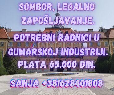 Potrebni radnici u gumarskoj industriji u Somboru.Pozicija 1:Radnici
