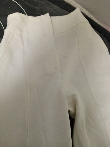 Pantalone bele clockhouse - Srbija: Bele pantalone siroke nogavice S