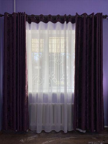 Продаются 2 набора одинаковых штор и тюлей, на два окна, ширина штор
